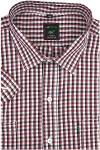 42899225008ac5 Duża Koszula Męska Laviino czerwona w kratkę na krótki rękaw duże rozmiary  K923