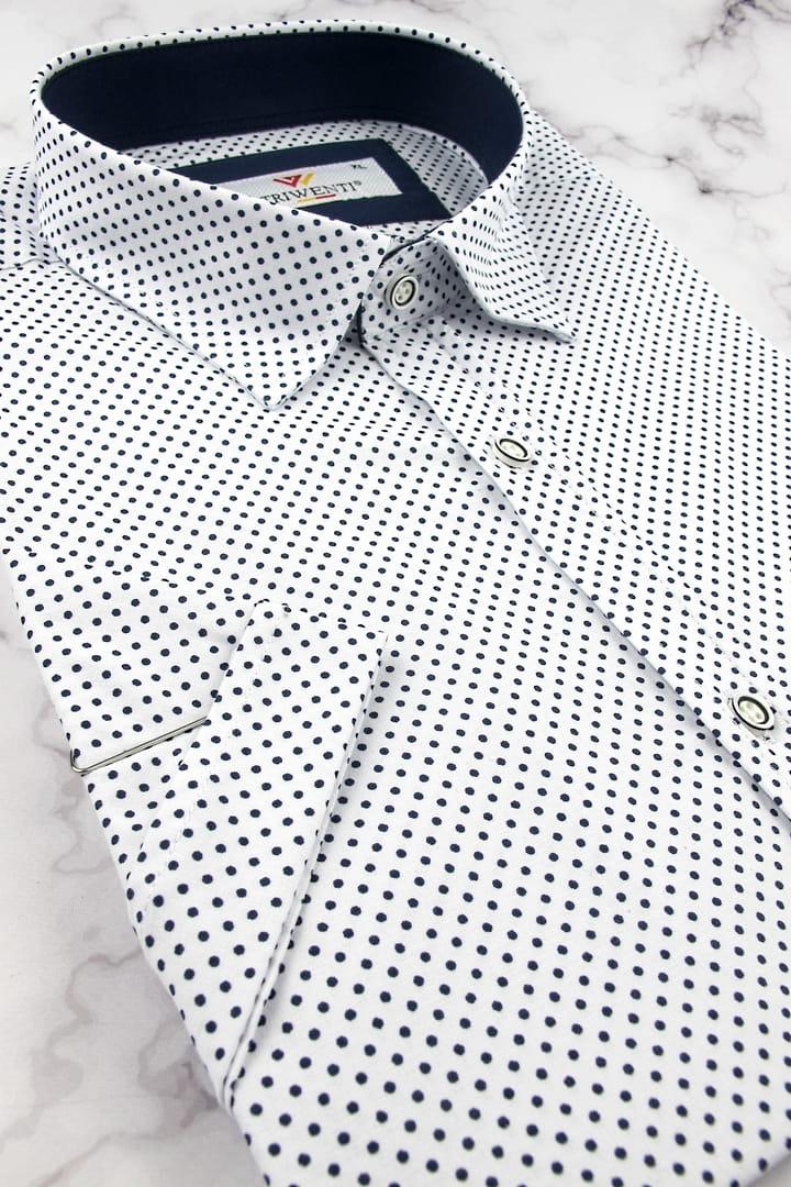 4344 Koszula męska biała kolorowe wykończenie 7075322100  pTrw8